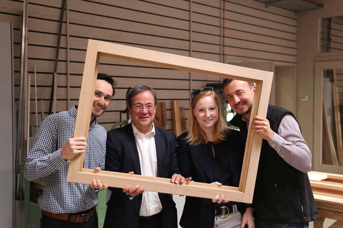 Hendrik Schmitz, Armin Laschet, Annika Fohn und Paul Ziemiak