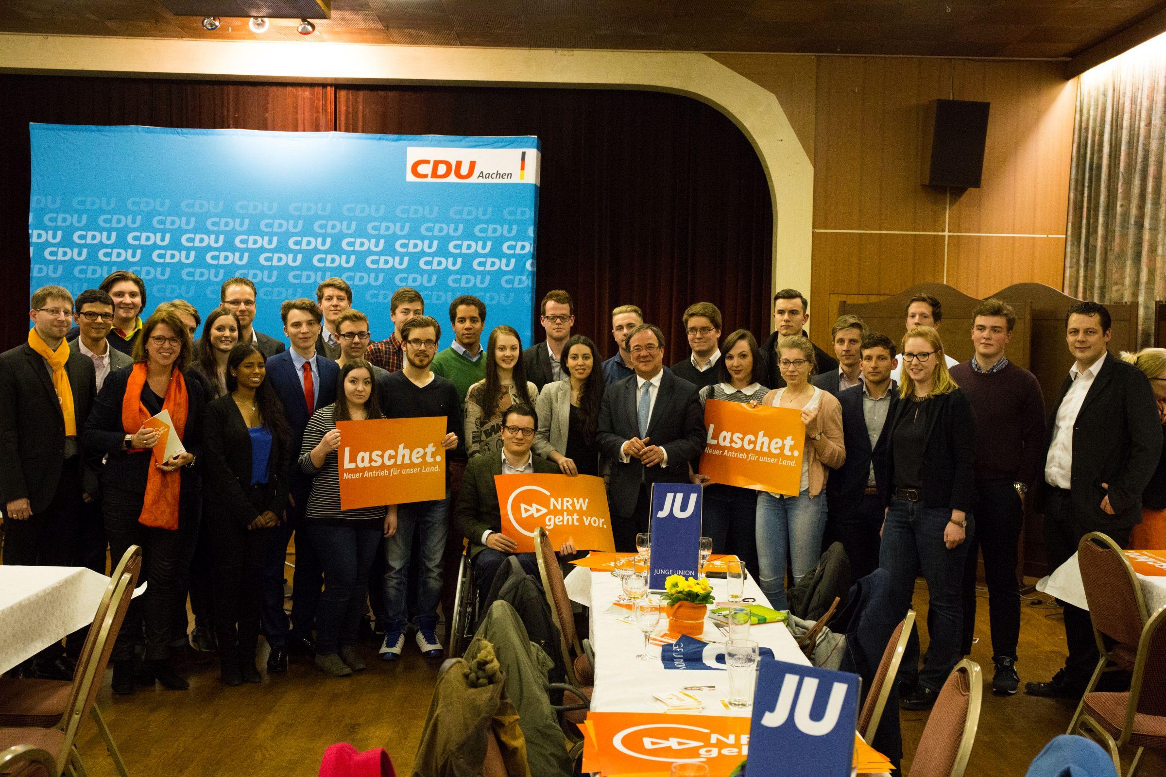 Gruppenfoto Junge Union beim CDU-Kreisparteitag 29.03.2017
